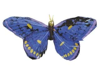 Floral &amp; Garden Butterfly 3 3/4&quot; Blu/Purpl/Yllw/Black