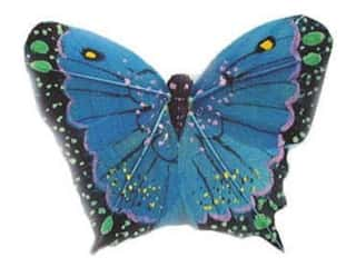 Accent Design Artificial Butterfly 2 1/2 in. Blue/Green/Black 1 pc.