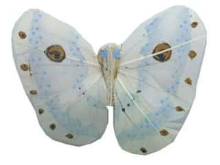 Floral &amp; Garden Butterfly 3&quot; Pnk/Wht/Brn/Blk/Ivry