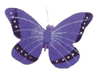 Clearance Floral & Garden Accents Butterflies: Accent Design Artificial Butterfly 2 1/4 in. Purple/Black Paper 1 pc.