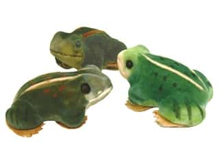 Floral & Garden Brown: Accent Design Artificial Frog 3 in. Green/Brown/Yellow 1 pc.