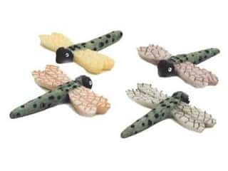 Floral &amp; Garden Dragonfly 1&quot; Green/Black/Assorted (2 pieces)