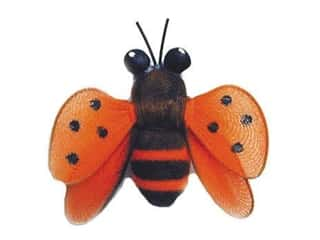 Accent Design Artificial Bee 1 3/4 in. Orange/Black/Brown 1 pc.
