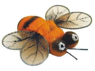 Accent Design Artificial Bee 1 1/2 in. Orange/Black/Brown 1 pc.