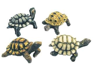 Clearance Blumenthal Favorite Findings: Accent Design Artificial Turtle 3 1/2 in. Assorted Green/Brown 1 pc.