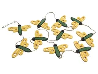 "Floral & Garden Garland 36"" Dragonfly Yellow/Green"