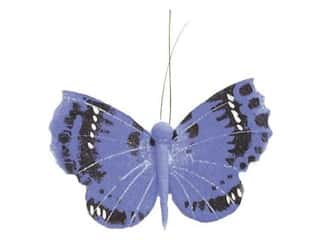 Accent Design Artificial Butterfly 3 in. Blue/Black/White 1 pc.