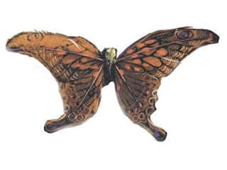 Accent Design - Garden Accents Decorative Floral Butterflies: Accent Design Artificial Butterfly 5 1/4 in. Rust/Black Feather 1 pc.