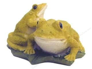 "Floral & Garden Resin Frogs 4"" Lt.Moss Green/Cream"