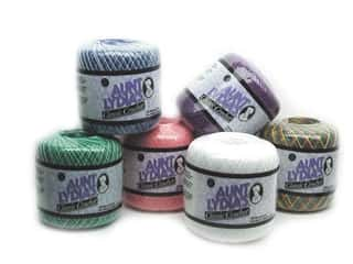 Weekly Specials knitting: Aunt Lydia's Classic Cotton Crochet Thread Size 10, SALE $2.19-$3.69.