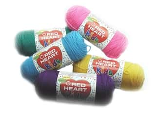 Light Worsted yarn: Red Heart Kids Yarn