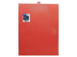 Darice Plastic Canvas #7 Mesh 10 1/2 x 13 1/2 in. Red (12 sheets)