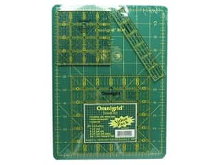 "Quilting Cutting Mats: Omnigrid Rulers Mat & Ruler Set 12""x 9"""