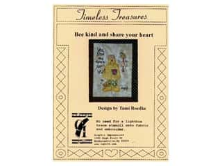 Plastic Stencils: Timeless Treasures Stencil Bee Kind &amp; Share