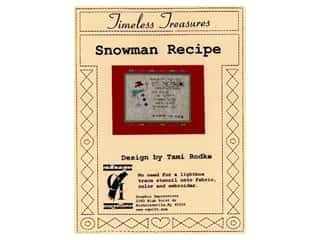 Timeless Treasures Stencil Snowman Recipe