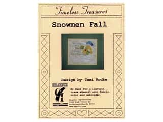 Plastic Stencils: Timeless Treasures Stencil Snowmen Fall