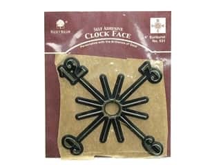 Walnut Hollow Clock Making Supplies: Walnut Hollow Adhesive Clock Face Sunburst 4 in. Gold