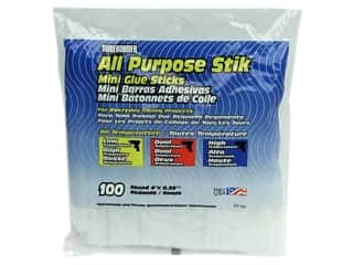 "Surebonder All Temperature Glue Stick 4"" Mini 100pc"