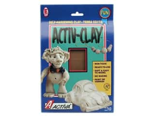 Weekly Specials Loew Cornell Brush Set: Activa Activ-Clay 1 lb. Terra Cotta