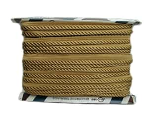 "Conso Princess Cord with Lip 3/8"" Gold (24 yards)"