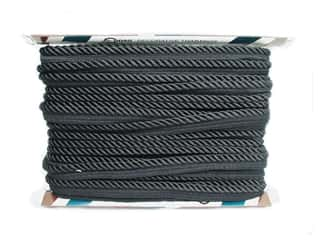 "Conso Conso Princess Twisted Cord 3/8"": Conso Princess Cord with Lip 3/8"" Black (24 yards)"
