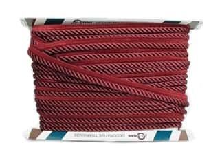 "Conso Princess Cord with Lip 3/8"" Ruby (24 yards)"