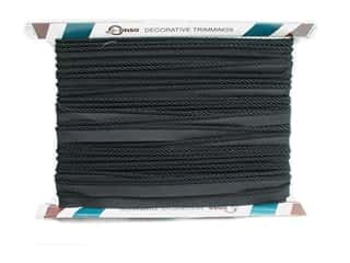 "Conso Conso Princess Twisted Cord 3/8"": Conso Princess Cord with Lip 3/16"" Black (24 yards)"