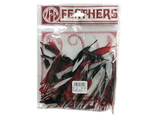 Feathers Black: Zucker Feather Duck Cosse Red/Black/White .25oz