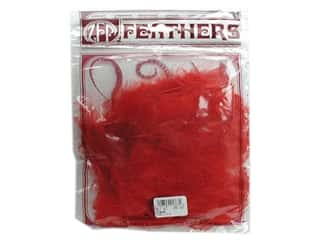 Marabou feathers: Zucker Feather Turkey Marabou Large .25oz Red