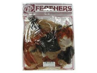Feathers Doll Making: Zucker Feather Turkey Plumage 0.5 oz Earth