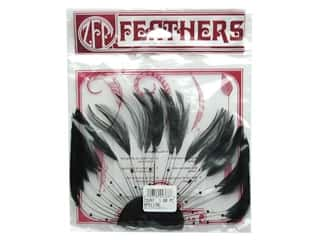 Feathers Doll Making: Zucker Feather Hackle 1/2 Plate Black