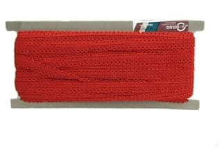 "Conso Princess Rayon French Gimp 1/2"" Red (36 yards)"