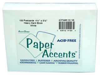 "Paper Accents Post Cards 4.25""x 5.5"" White 100pc"