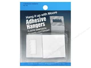 Hardware Framing: Moore Picture Hangers Saw Tooth Adhesive 4pc
