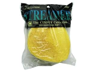 Cindus: Crepe Paper Streamers by Cindus 1 3/4 in. x 81 ft. Canary Yellow (3 pieces)