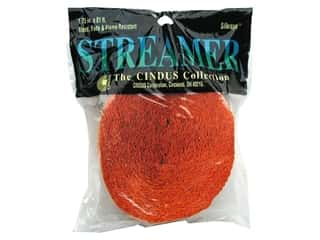 Halloween Height: Crepe Paper Streamers by Cindus 1 3/4 in. x 81 ft. Bright Orange (3 pieces)