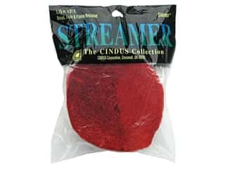 Gift Wrap &amp; Tags: Crepe Streamer 1.75&quot;x 81&#39; Flame Red (3 pieces)