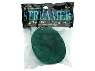Gift Wrap &amp; Tags: Crepe Streamer 1.75&quot;x 81&#39; Emerald Green (3 pieces)
