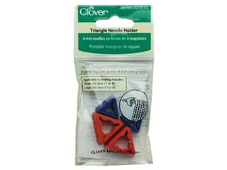 Needle Holders Yarn & Needlework: Clover Needle Holder Jumbo Triangular 4 pc