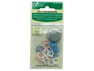 Rings Clover Rings: Clover Stitch Markers Split Ring 24pc
