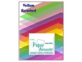 cardstock vellum: Cardstock Variety Pack 8 1/2 x 11 in. Assorted Vellum 25 pc. by Paper Accents