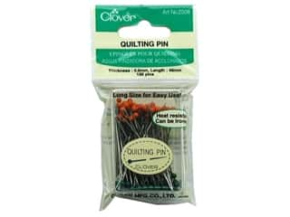 "Glass 7"": Clover Quilting Pins Glass Head 100 pc."