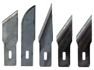 Excel Hobby Blade Company: Excel Hobby Knife Blade Assorted Heavy Duty 5 pc