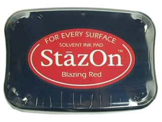 Shoulder Pads $4 - $5: Tsukineko StazOn Large Solvent Ink Stamp Pad Blazing Red