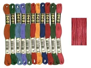 DMC Floss: DMC Six-Strand Embroidery Floss #150 Ultra Light Very Dark Dusty Rose (12 skeins)