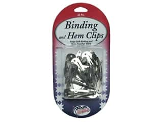 Hemming: Sullivans Quilt Shop Clips Binding & Hem 35 pc