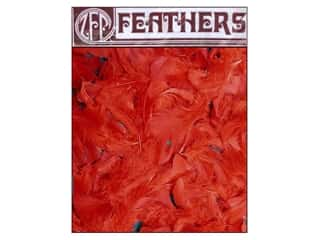 Feathers Doll Making: Zucker Feather Turkey Plumage 0.5 oz Red
