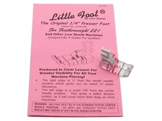 "Little Foot, Ltd: Little Foot 1/4"" Presser Foot Low Shank Featherweight 221"