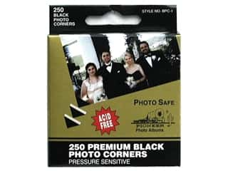 Pioneer Photo Album Inc Glues/Adhesives: Pioneer Photo Corners Dispenser Box 250 pc Black