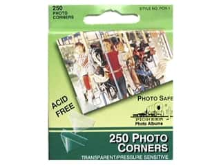 Pioneer Photo Album Inc Glues/Adhesives: Pioneer Photo Corners Dispenser Box 250 pc Clear